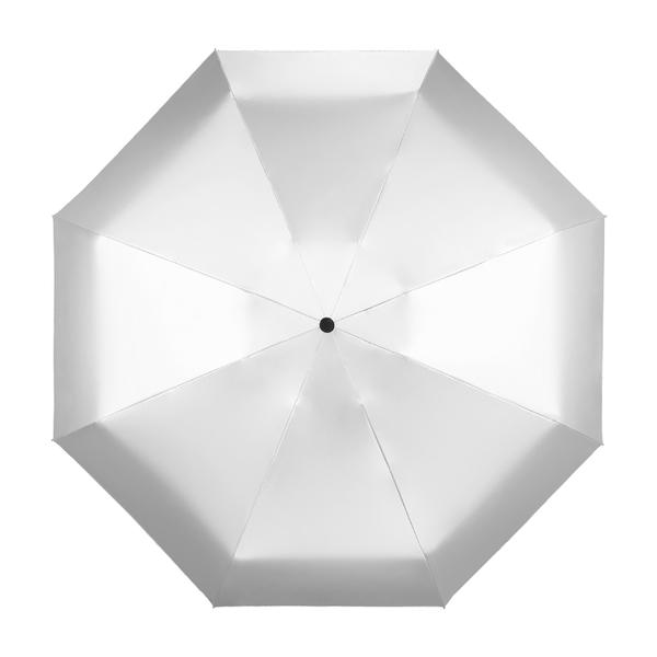純色鈦銀膠折傘 五折傘 8骨 晴雨傘 迷你黑膠傘 超輕 防曬 遮陽 手動 兩用折疊雨傘
