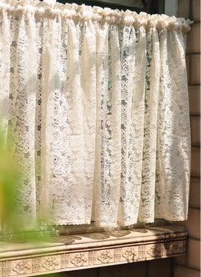 可愛時尚蕾絲全棉門簾11 廚房半簾 咖啡簾 窗幔簾 穿杆簾 (150cm寬*60cm高) 風水簾