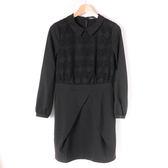 【MASTINA】高雅蕾絲雪紡上衣-黑 10501