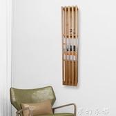 北歐實木書架簡約客廳壁掛書架雜志架現代創意家用臥室落地書架子 夢幻衣都