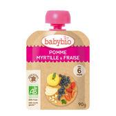 【愛吾兒】法國 Babybio 有機蘋果藍莓草莓纖果泥 6個月以上適用
