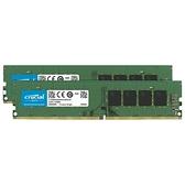Micron 美光32GB 16GB 2 DDR4 3200 原生桌上型電腦雙包裝PC 記