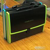 電腦包 A4風琴包多層文件夾學生試捲夾手提文件袋 新品