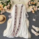 防曬服 波西米亞民族度假風防曬衫2020夏裝新款重要刺繡花邊空調開衫女夏