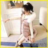 兒童羽絨外套 女童馬甲冬季外穿兒童背心冬裝加厚馬夾外套