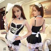 性感透明蕾絲女傭服情趣內衣女仆吊帶圍裙套裝連衣短裙