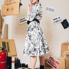 WHO CARES x Daniel Wong。天馬行空系列襯衫洋裝(白)
