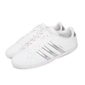 adidas 休閒鞋 Coneo QT 白 銀 女鞋 運動鞋 【ACS】 DB0135