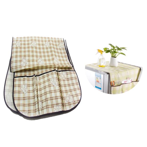 冰箱防塵罩 冰箱蓋布 冰箱罩 蓋巾 掛袋 冰箱套 冰箱掛袋 冰箱布套 收納袋 顏色隨機