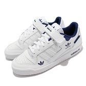 adidas 休閒鞋 Forum Low 白 藍 愛迪達 三葉草 復古 男鞋 女鞋 【ACS】 H01673