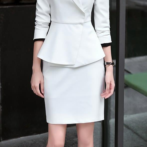 灰姑娘[8S231-PF]高端質感OL基本搭配單色窄裙~OL/上班/面試/會議