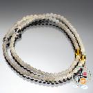 黃晶+高級月光石108念珠5mm【十方佛教文物】