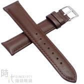 【台南 時代鐘錶 精選質感錶帶】小牛皮素面加厚款 咖啡 尺寸18mm 附工具 FOSSIL替用錶帶