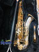 凱傑樂器 中古美品  G1 薩克斯風 管身 鎳銀 金鍵 次中音 台製