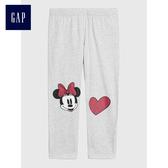 Gap x Disney女童 舒適休閒長褲 487315-亮麻灰色