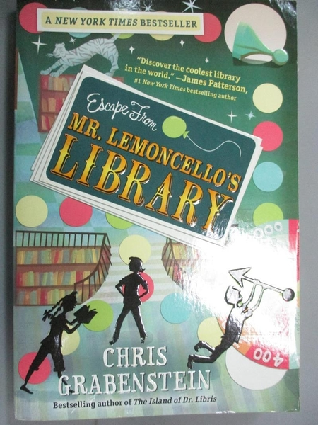【書寶二手書T1/少年童書_OSJ】Escape from Mr. Lemoncello's Library_Grabenstein, Chris