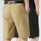 中老年男士休閒短褲爸爸西裝短褲寬鬆五分褲中年薄款男中褲夏裝男 黛尼時尚精品
