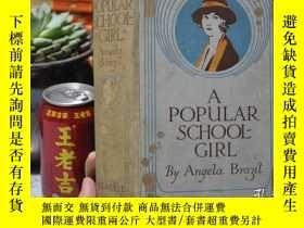 二手書博民逛書店1900年左右,精裝插圖本,A罕見Popular Schoolg
