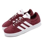 adidas 休閒鞋 VL Court 2.0 紅 白 男鞋 運動鞋 麂皮 滑板鞋【ACS】 DA9855