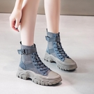 馬丁靴女英倫風秋季新款網紅ins短靴女春秋單靴瘦瘦加絨靴子 亞斯藍