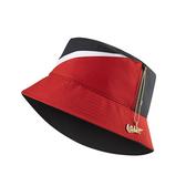 F-NIKE NSW Bucket Swoosh Cap 黑 紅 女款 漁夫帽 雙面都可戴 設計 帽子 CI3616-011