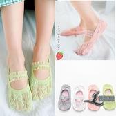 女童公主襪子蕾絲襪女孩花邊襪低幫淺口隱形船襪兒童舞蹈襪【邻家小鎮】