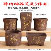 花盆多肉花盆陶瓷多肉植物粗陶復古素燒紫砂家用創意大小簡約