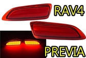 【吉特汽車百貨】新款 豐田 RAV4 PREVIA 專用後保桿燈 LED燈 第三煞車燈 全亮版 非晶鑽款