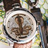 BOMBERG 炸彈錶 BOLT-68 COBRA 眼鏡蛇限量版機械錶-銀/45mm BS45ASS.043-2.3