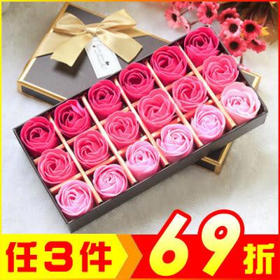 浪漫18朵盒裝玫瑰花皂 求愛禮物禮品 (顏色任選)【AE04233】聖誕節交換禮物 99愛買生活百貨