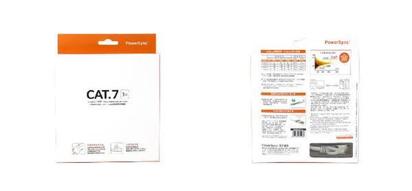 群加 Powersync CAT 7 SFTP 10Gbps 超高速網路線 RJ45 LAN Cable【圓線】貝吉色 / 1M (CAT7-01)