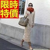針織外套 長版-獨一無二韓風與眾不同純棉開襟女針織衫2色63l36【巴黎精品】