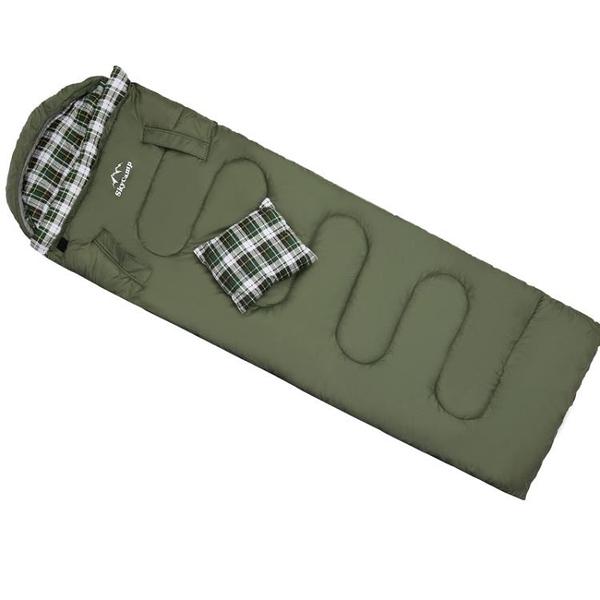 睡袋大人戶外露營冬季加厚防寒成人單人便攜加寬可伸手拆洗防踢被 NMS樂事館新品