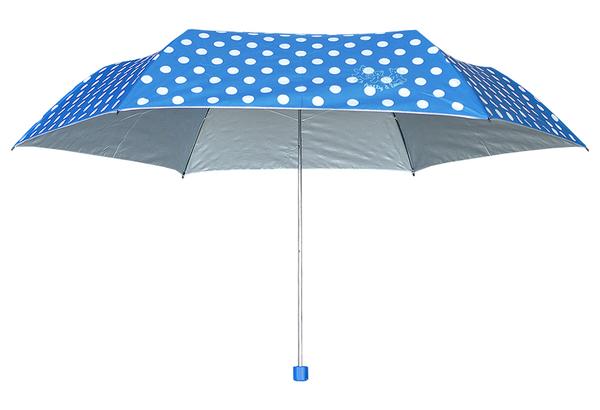 LA PETTY繽紛圓點銀膠鋼筆傘