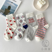 4雙裝素色長筒襪女中筒襪潮可愛日系【小酒窩服飾】