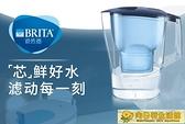 淨水器 BRITA碧然德濾水壺家用凈水器光汐3.5L藍過濾水壺 標準版濾芯3枚 向日葵