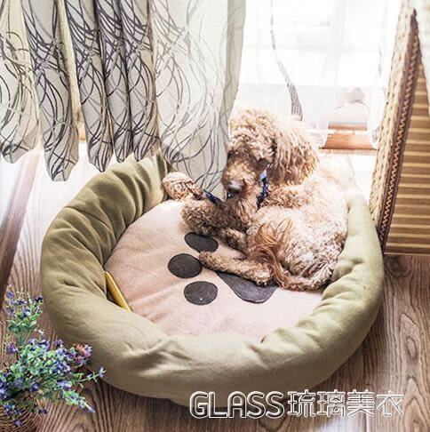 小型犬泰迪狗窩狗狗屋睡墊寵物用品沙發狗床墊子耐咬貓窩四季igo    琉璃美衣