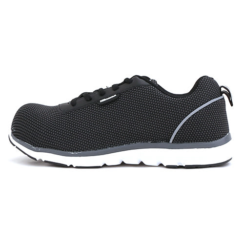 男款 超輕量透氣網布綁帶 運動鞋加塑鋼頭 寬楦 塑鋼鞋 工作鞋 安全鞋 59鞋廊