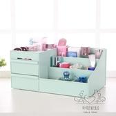 桌面化妝品收納盒護膚首飾大號抽屜式置物架飾品塑料儲物盒xw