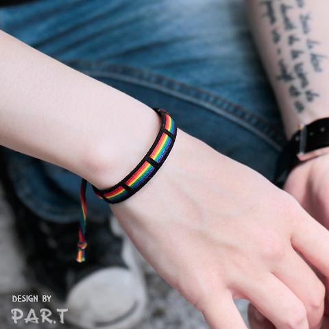 【PAR.T】彩虹文創小物/造型配件/六彩飾品-六彩繽紛衝浪手環