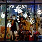 ►壁貼 雪花鈴鐺 城鎮聖誕雪花牆貼 PVC 透明膜牆貼 聖誕節 熱銷【A3305】