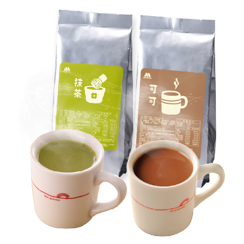 MOS摩斯漢堡_抹茶拿鐵粉350g1入+可可補充包350g1入