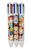 【卡漫城】 Tsum 四色 原子筆 三隻組 0.7mm ㊣版 米奇 三眼怪 史迪奇 彩色墨水 藍筆 紅筆 綠筆