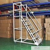 理貨車登高車家用移動梯子移動平台庫房貨架登高平台登高梯  萬聖節狂歡 YTL