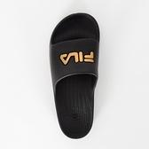 Fila Sleek Slide [4-S355T-009] 拖鞋 男女 運動 休閒 舒適 輕量 防水 黑金