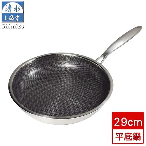 清水 316核晶不沾平底鍋(29cm)【愛買】
