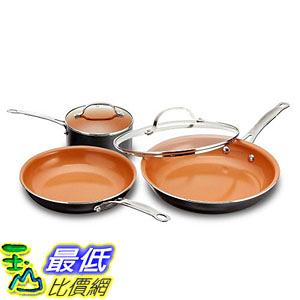 [8美國直購] 陶瓷不沾鍋 Gotham Steel 1435 5 Piece Kitchen Essentials Cookware Set with Ultra Nonstick Copper Surface