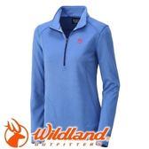 【Wildland 荒野 女款 雙色輕量保暖上衣 海藍】0A32601/保暖上衣/長袖上衣/保暖上衣★滿額送