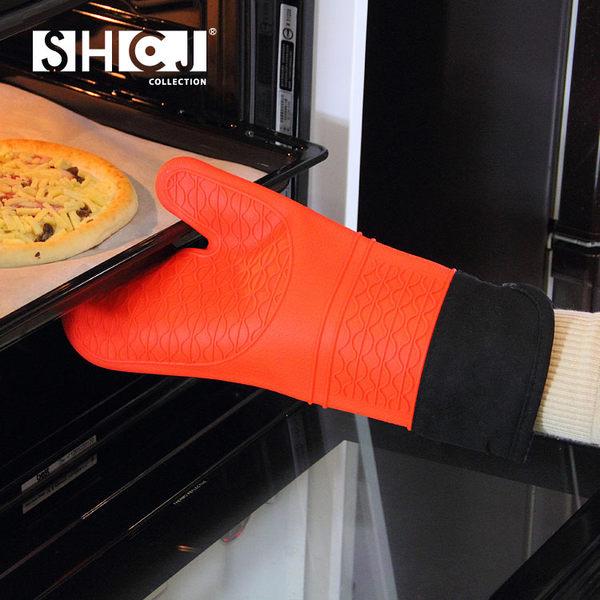 加長型隔熱手套 SHCJ生活采家 雙層 加厚 加棉 防燙矽膠 烘培烤箱專用 SGS檢驗合格#53002
