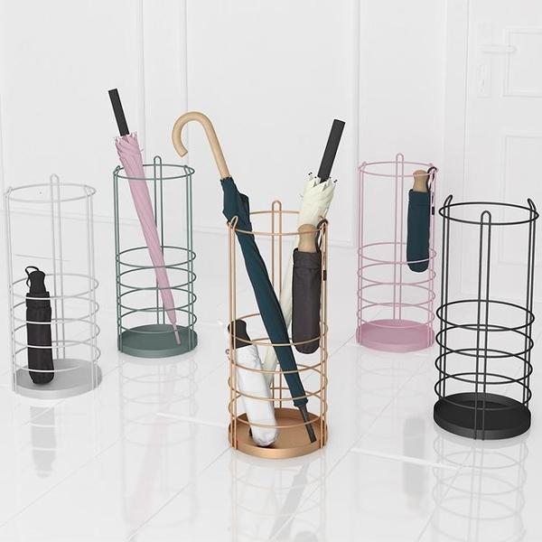 ELF生活志鐵藝雨傘架簡約創意雨傘桶家用置物架落地商用掛傘架 時尚芭莎